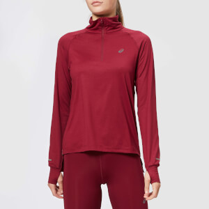Asics Women's Thermopolis Long Sleeve 1/2 Zip Top - Cordovan Heather