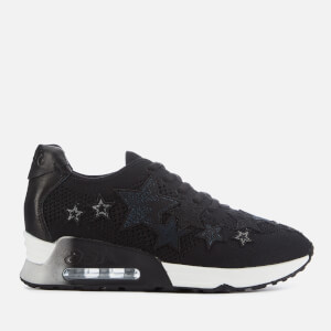 Ash Women's Lucky Star Knitted Trainers - Black