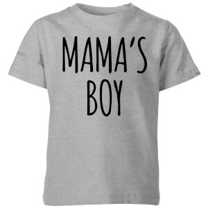 My Little Rascal Mama's Boy Kids' T-Shirt - Grey