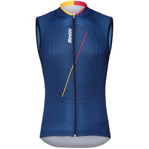 Santini La Vuelta 2018 Cero Gilet - Blue