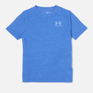 Under Armour Boys' Short Sleeve Cotton T-Shirt - Royal