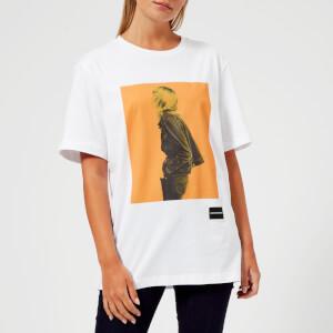 Calvin Klein Jeans Women's Graphic Boyfriend Fit T-Shirt - Bright White