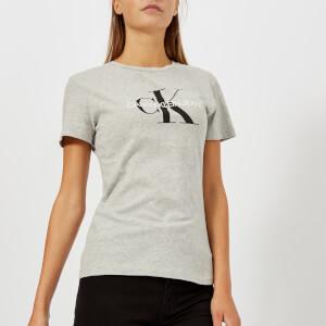 Calvin Klein Jeans Women's Core Monogram Logo Regular Fit T-Shirt - Light Grey Heather