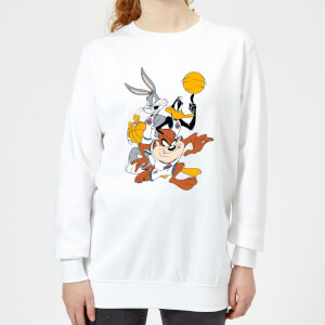 Space Jam Group Shot Women's Sweatshirt - White