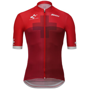 Santini Tour de Suisse 2018 Cross Jersey - Red