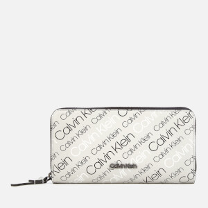 Calvin Klein Women's Inside Out Large Zip Around Wallet - Grey/Black