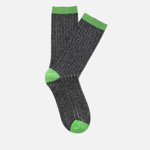 Ganni Women's Classic Rib Socks - Black