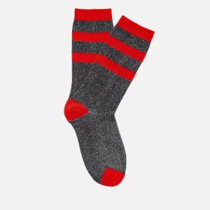 Ganni Women's Classon Stripe Socks - Black