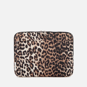 Ganni Women's Fairmont Laptop Case - Leopard