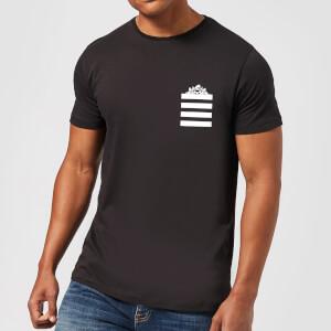 T-Shirt Homme Taz Poche à Rayures Looney Tunes - Noir