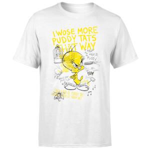 Looney Tunes Tweety Pie More Puddy Tats Men's T-Shirt - White