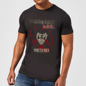 T-Shirt Homme Taz Diable de Tasmanie Monster Rock Looney Tunes - Noir