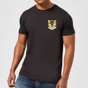T-Shirt Homme Wile E Coyote Fausse Poche Looney Tunes - Noir
