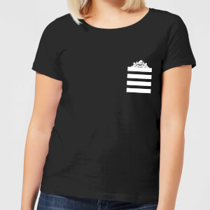 T-Shirt Femme Taz Poche à Rayures Looney Tunes - Noir