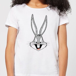 T-Shirt Femme Bugs Bunny Looney Tunes - Blanc