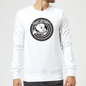 Sweat Homme That's All Folks ! Porky Pig Looney Tunes - Blanc