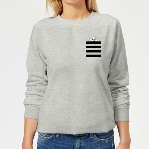 Looney Tunes Taz Stripes Pocket Print Women's Sweatshirt - Grey