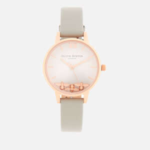 Olivia Burton Women's Busy Bees Watch - Grey/Rose Gold