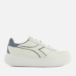 Diadora Women's B Elite Wide Trainers - White/Grisaille