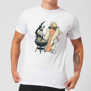 Hot Dog Grilling Men's T-Shirt - White