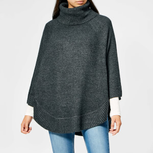 Joules Women's Pria Roll Neck Poncho - Dark Grey