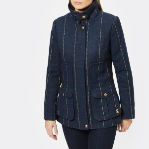 Joules Women's Teed Fieldcoat - Navy Tweed
