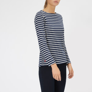 Joules Women's Harbour Jersey Top - Hope Stripe French Navy