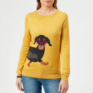 Joules Women's Miranda Sausage Dog Intarsia Jumper - Ochre