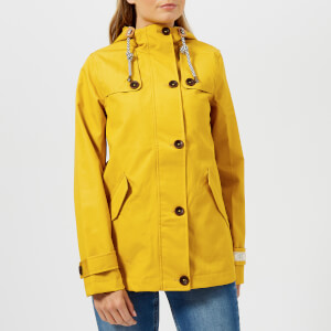 Joules Women's Coast Waterproof Hooded Jacket - Antique Gold