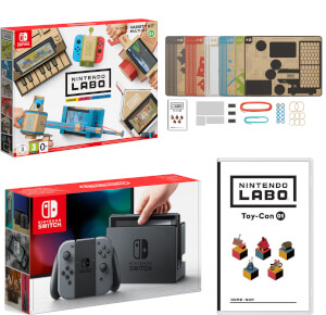 Nintendo Switch Console With Grey Joy-Con & Labo Toy-Con 01: Variety Kit