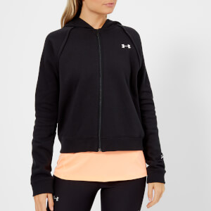 Under Armour Women's Rival Fleece Full Zip Hoodie - Black