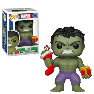 Marvel Holiday - Figura Pop! Vinyl Hulk con Calza e Regalo