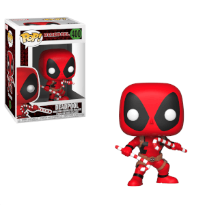 Marvel Deadpool Holiday - Figura Pop! Vinyl Deadpool con Bastoncino di Zucchero