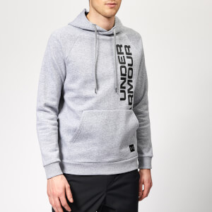 Under Armour Men's Rival Fleece Script Hoodie - Steel Light Heather