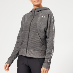 Under Armour Women's Ottoman Full Zip Fleece Hoodie - Charcoal Light Heather