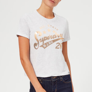 Superdry Women's Foil Airtex Boxy T-Shirt - Ice Marl