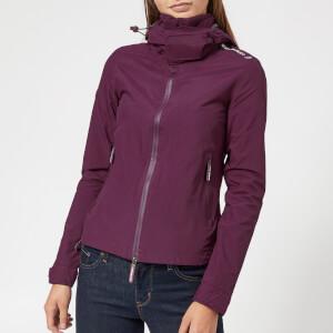 Superdry Women's Hooded Cliff Hiker Coat - Burgundy/Black