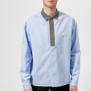 OAMC Men's Rib Collar Shirt - Light Blue