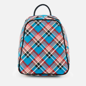 Vivienne Westwood Women's Shuka Tartan Mini Backpack - Blue
