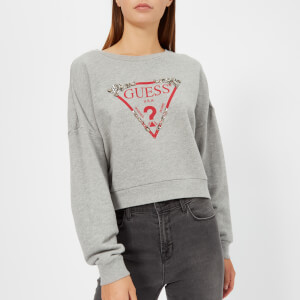 Guess Women's Embellishment Fleece - Light Grey Melange