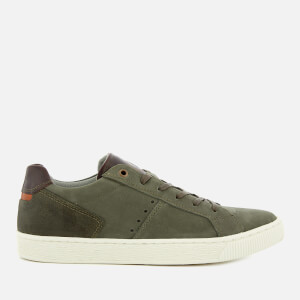 Dune Men's Tooting Nubuck Low Top Trainers - Khaki