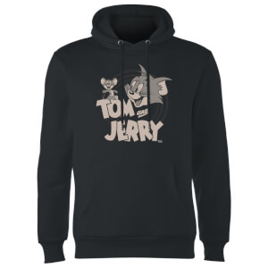Sweat à Capuche Homme Tom et Jerry - Noir
