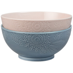 Denby Monsoon Gather Set Of 2 Large Serving Bowls