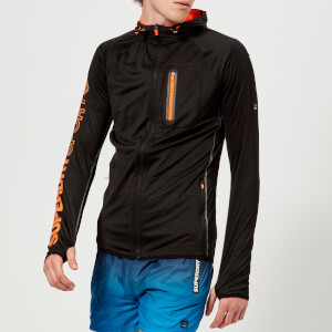 Superdry Sport Men's Athletic Panel Zip Hoody - Black
