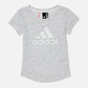 adidas Girls ID Winner Short Sleeve T-Shirt - White