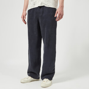 Our Legacy Men's Cocktail Drape Trousers - Blue Cupro