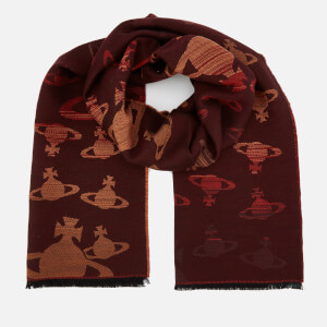 Vivienne Westwood Women's Jacquard Wool Scarf - Bordeaux