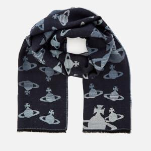 Vivienne Westwood Women's Jacquard Wool Scarf - Blue