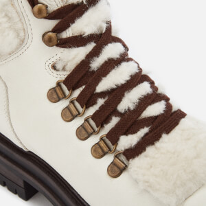 Kurt Geiger London Women's Regent Leather Hiker Style Boots - White: Image 4