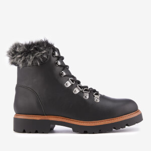 KG Kurt Geiger Women's Tyrone Leather Hiker Style Boots - Black